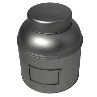Boîte à Thé Victorienne Argent 1,5 kg avec porte étiquette