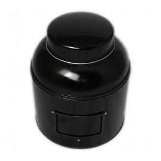 Boîte à Thé Victorienne Noire 1,5 kg avec porte étiquette