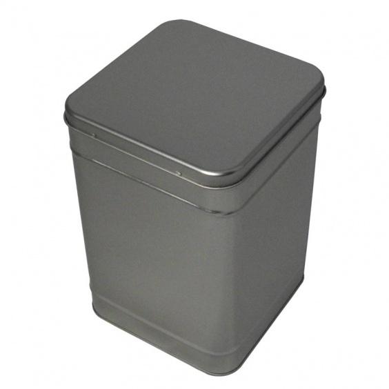 Boîte à Thé Carrée Argent 1,30 kg