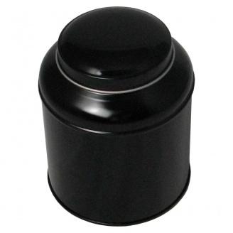 Boîte à Thé Dome Noire Double Couvercle 125 g