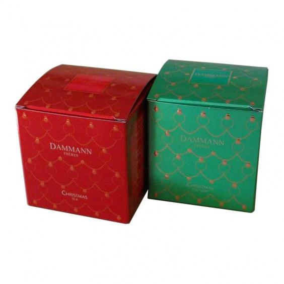 Lot de 2 Boîtes de Christmas Tea: vert et noir. 2 Boîtes de 25 sachets