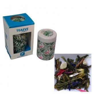 tisanière et thé vert