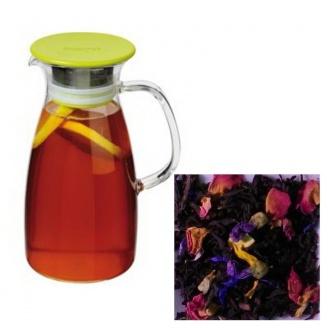 Lot Pichet à thé 1 L et Sachet de Thé Noir Pacific Star 100g