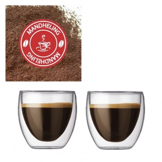 Verre à Café Pavina Double paroi  8 cl par 2 et café moulu Mandheling Bio Gayo Mountain 250g