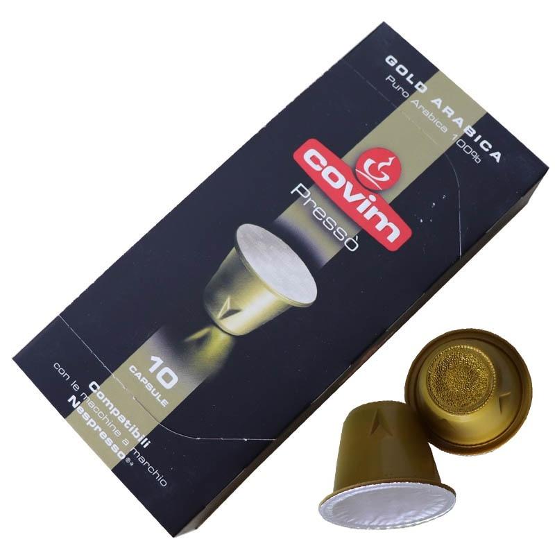 gold arabica capsule compatible nespresso Covim Presso