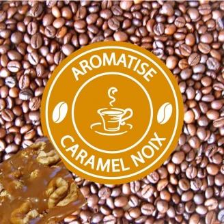 café grains aromatisé caramel noix