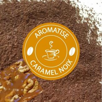 Café Moulu Aromatisé Caramel Noix