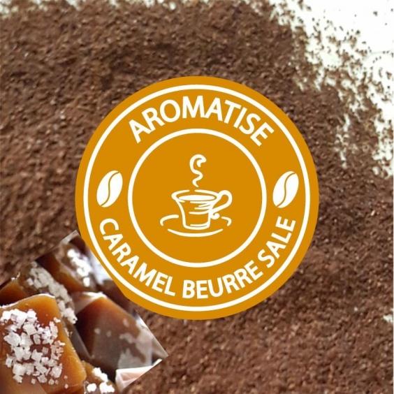Café Moulu Aromatisé Caramel Beurre Salé