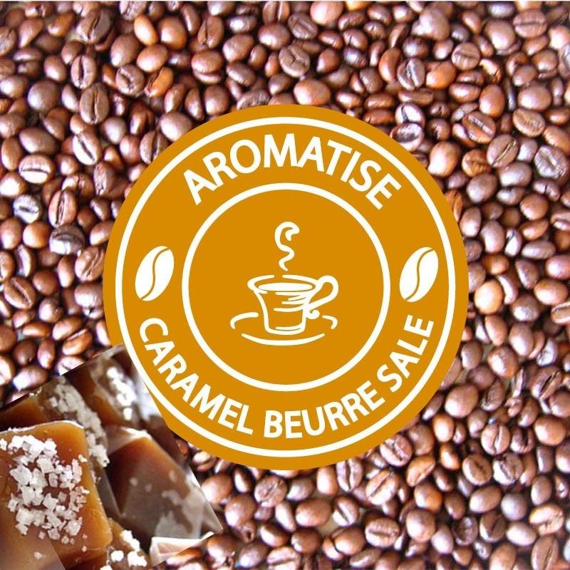 cafe en grains aromatise caramel beurre sale