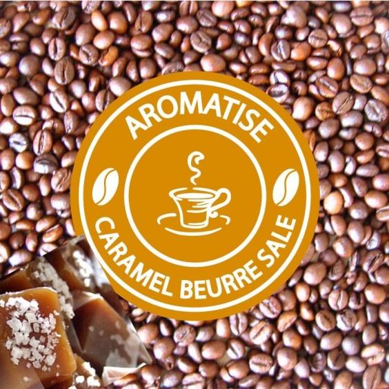 Café en Grain Aromatisé Caramel Beurre Salé