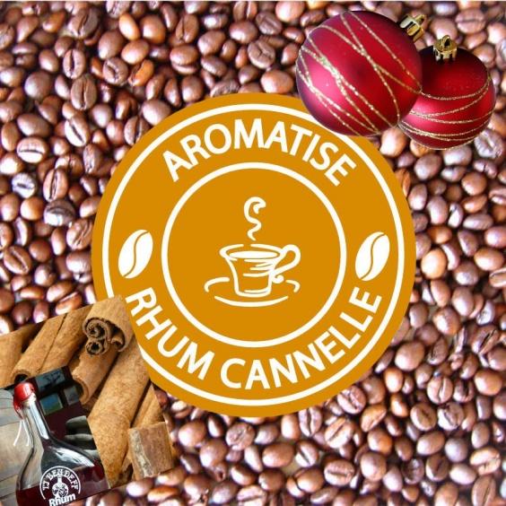 Café en Grain de Noël Aromatisé Rhum Cannelle