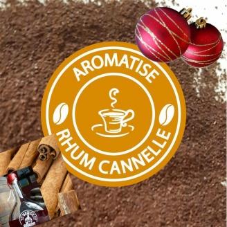 Café Moulu de Noël Aromatisé Rhum Cannelle