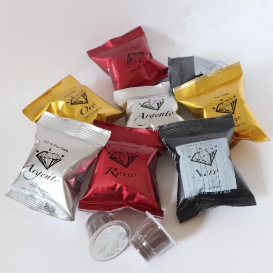 Lot découverte Oro Néro Rosso Argento Capsule Compatible Nespresso ®