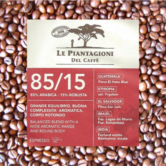 Mélange 85/15 Le Piantagioni - Café Grains