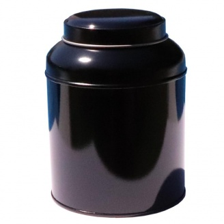 Boîte à Thé Dome Noire Double Couvercle 250 g
