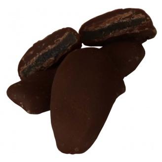 Gingembre confit enrobé de chocolat au lait