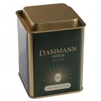 christmas tea Boîte de 80 g de thé vert aromatisé en feuilles