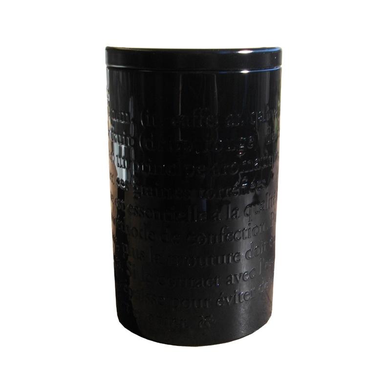 boîte à cafe métal noir decor 300g
