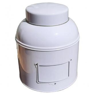 boite a thé victorienne blanche avec porte étiquette