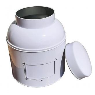 vente en ligne boite a thé victorienne blanche avec porte étiquette