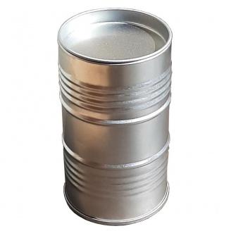 boite bidon d'huile argent