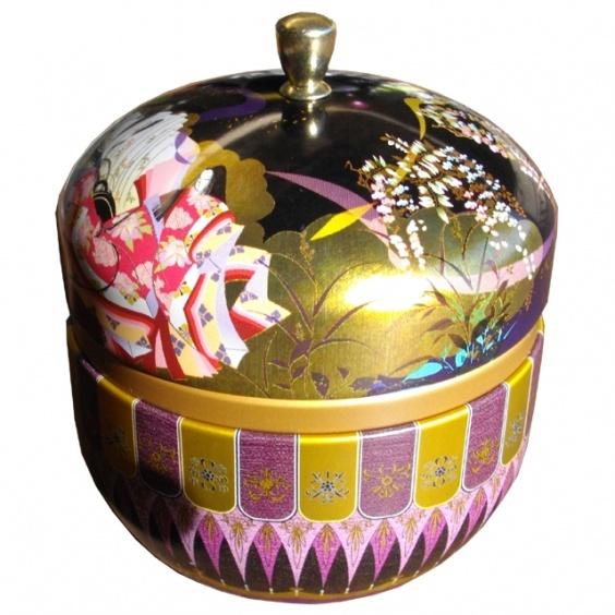 Boîte à Thé Hanami Noir 100g