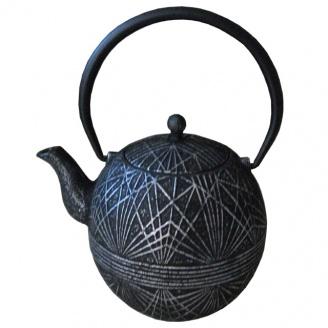 Théière Fonte  Art Déco Noire 0.9 L