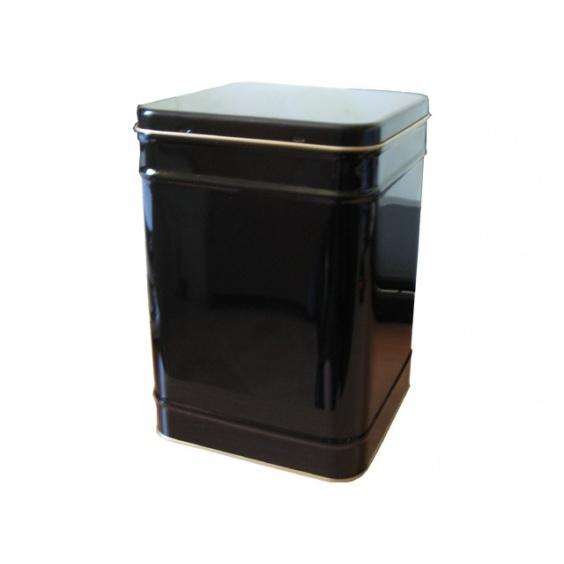 Boîte à Thé Carrée Noire 1,36 kg