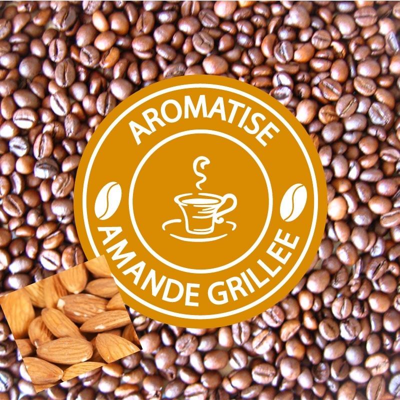 café grains aromatisé amande grillée