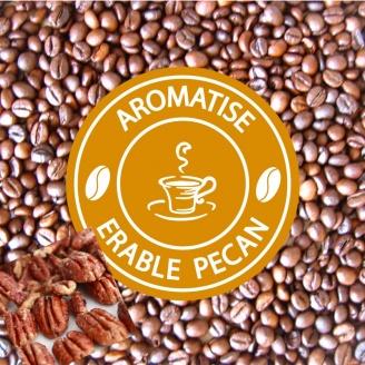 vente café grains aromatisé erable noix de pecan