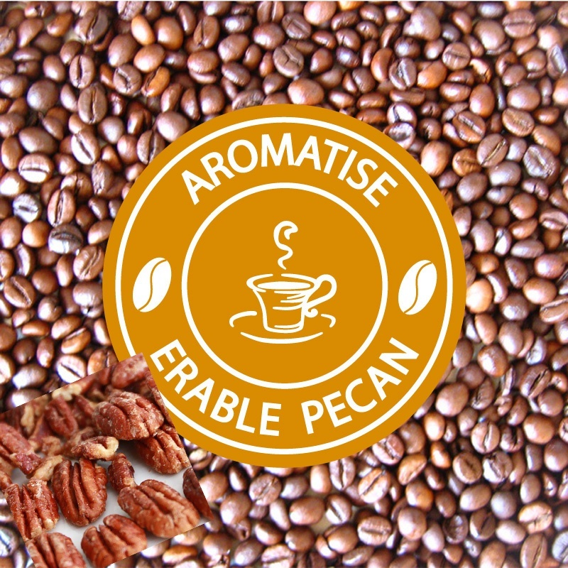 vente cafe grains aromatise erable noix de pecan