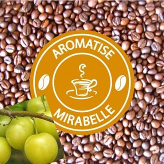 vente café grains aromatisé mirabelle