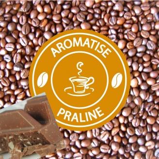 vente café grains aromatisé praliné