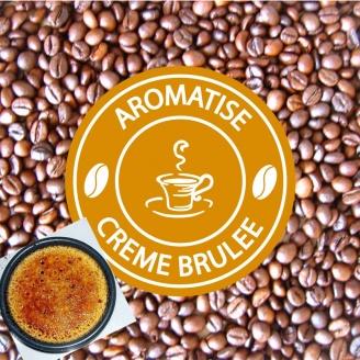 vente café grains aromatisé crème brulée
