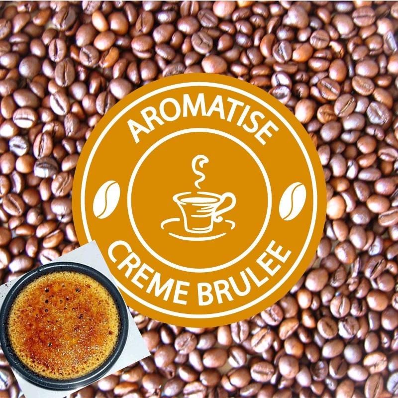 vente cafe grains aromatise creme brulee