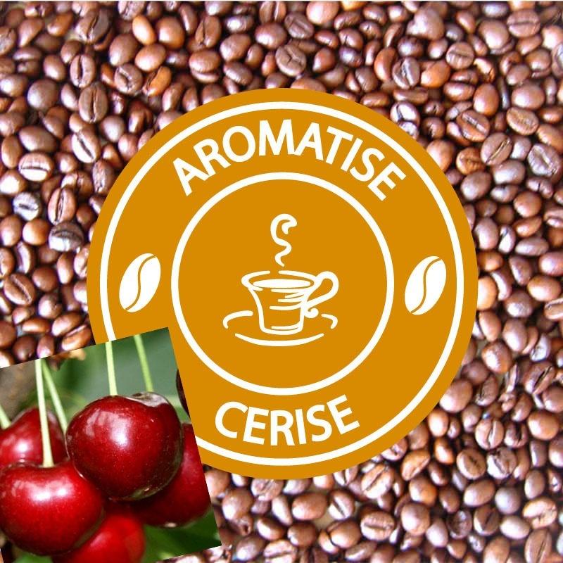 cafe grains aromatise cerise