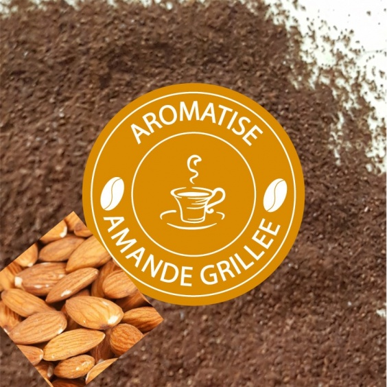 Café Moulu Aromatisé Amande Grillée