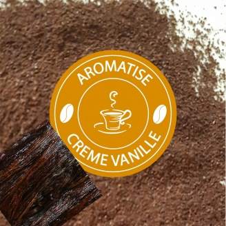 cafe moulu aromatise creme de vanille