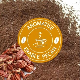 café moulu aromatisé erable Noix de Pécan