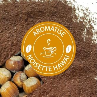 cafe moulu aromatise noisette