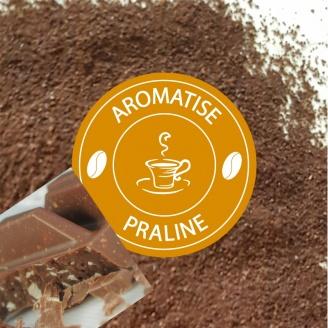 café moulu aromatisé praliné