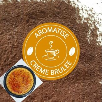cafe moulu aromatise creme brulee