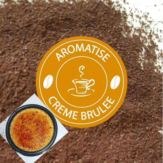 Café Moulu Aromatisé Crème Brûlée