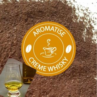 cafe moulu aromatise creme de whisky