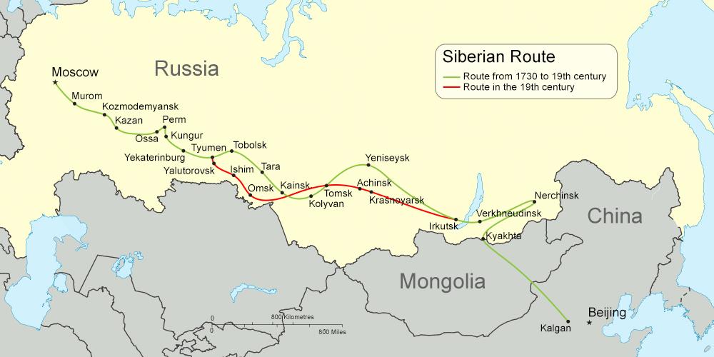 carte route de siberie