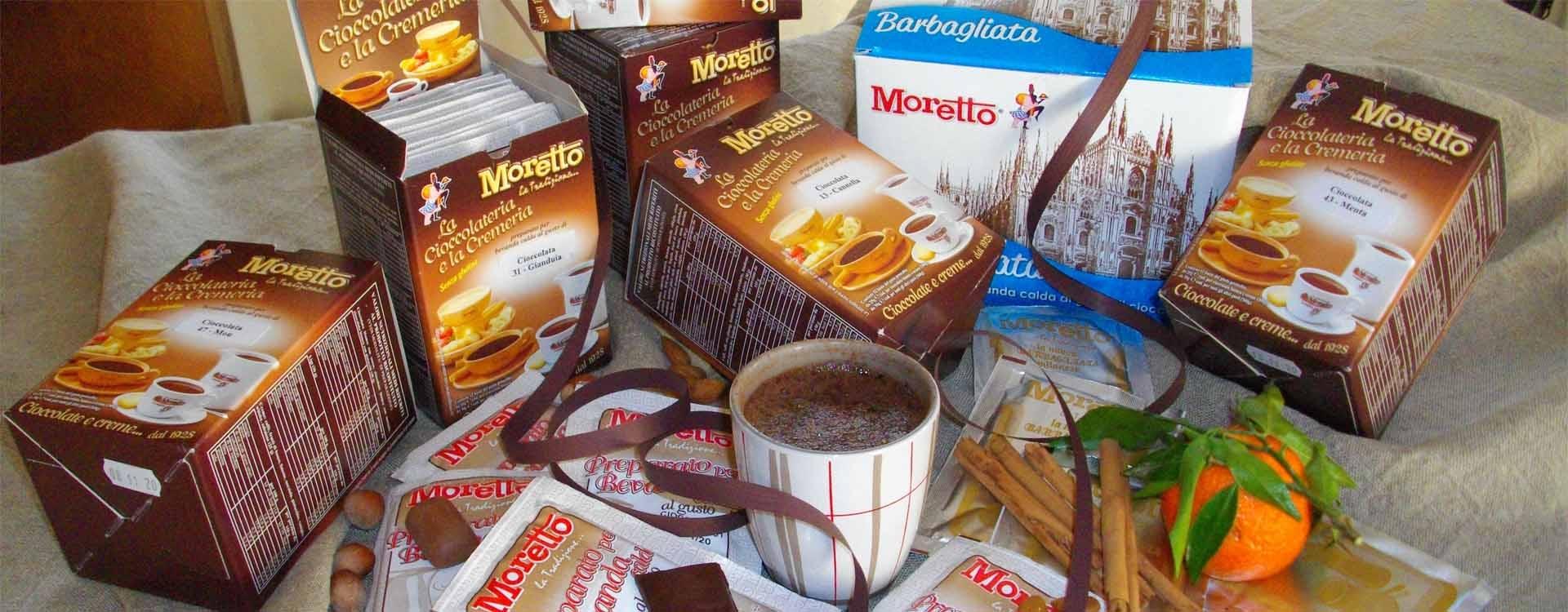 Pour les gourmands, les produits Moretto !